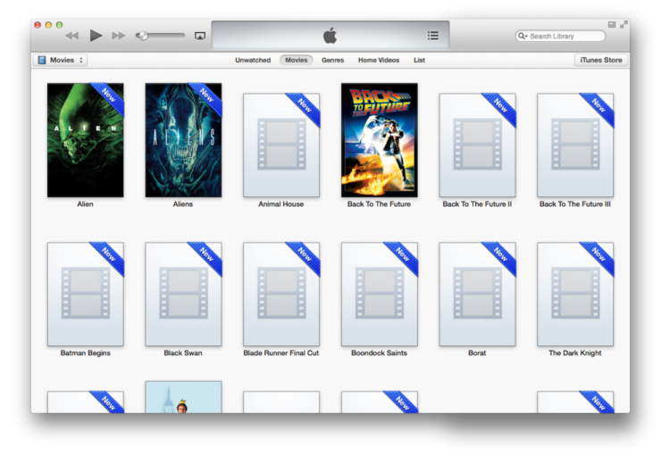iTunes does not automatically populate movie cover art or metadata