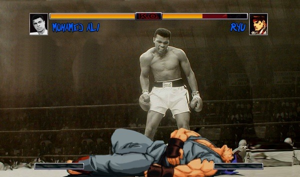 Muhammed Ali vs Ryu from Street Fighter