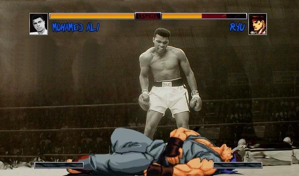 Muhammed Ali vs Ryu from Street Fighter