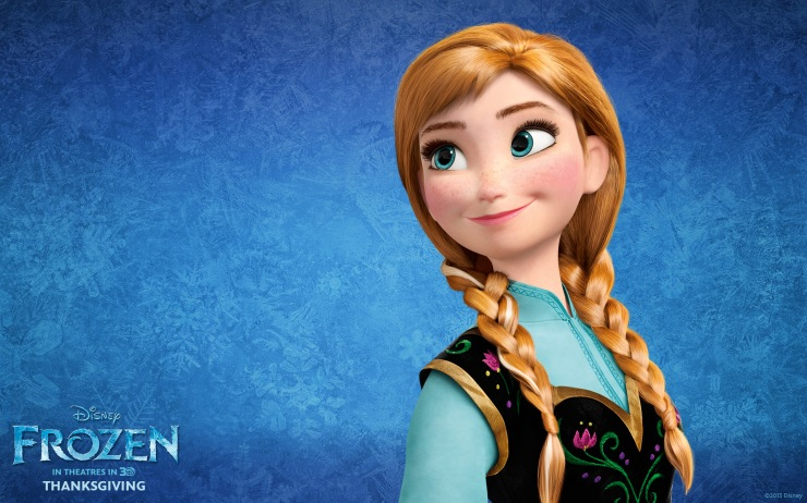 Princess Anna in Disney's Frozen