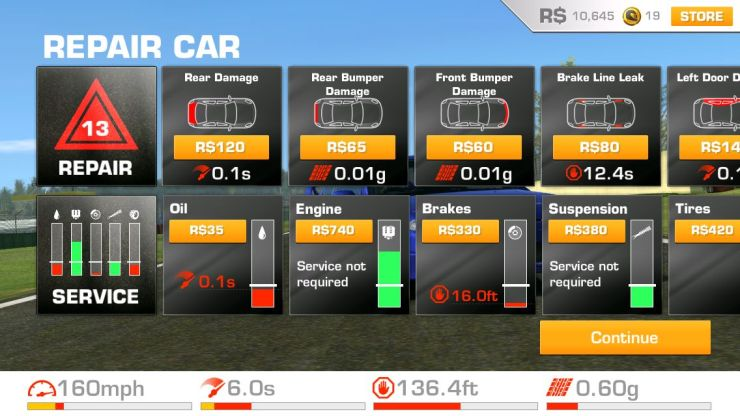 Paying to repair your car so you can play again in Real Racing 3