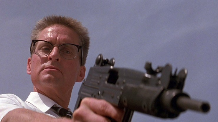 William Foster points a gun in Falling Down