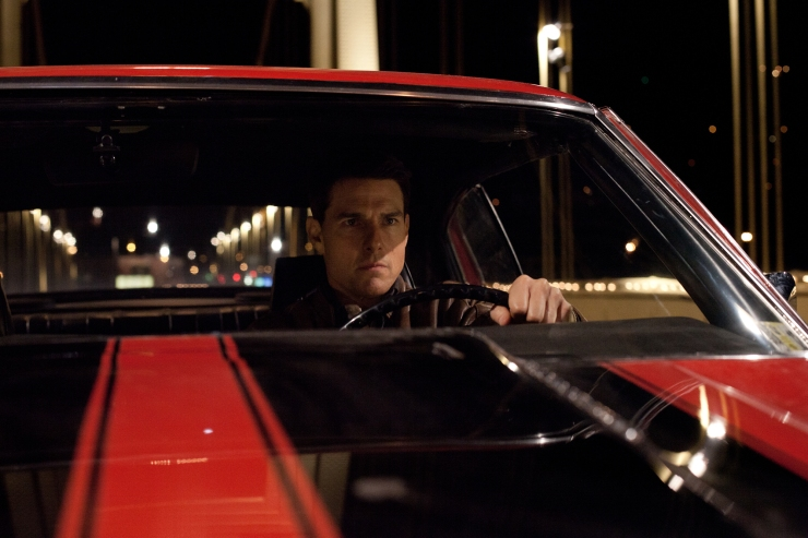 Jack Reacher in a car