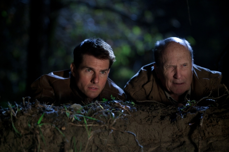 Tom Cruise and Robert Duvall in Jack Reacher