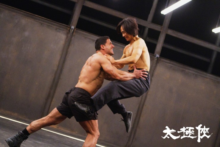 Fight scene in Man of Tai Chi