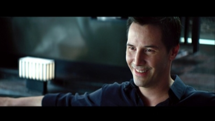 Keanu Reeves smiles in Man of Tai Chi