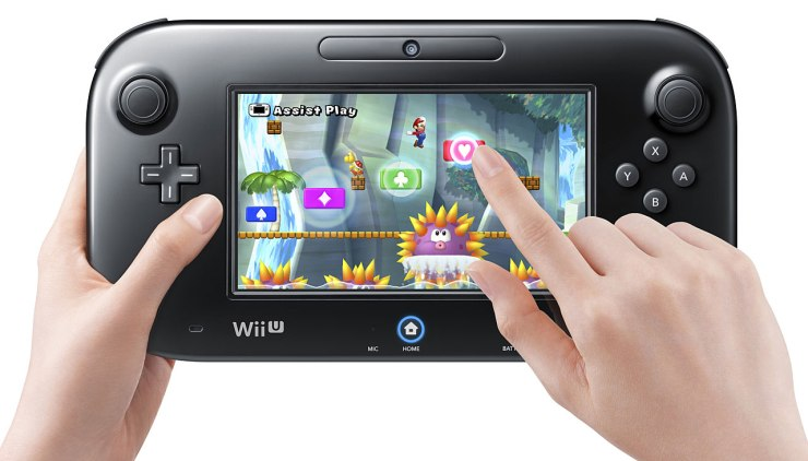 Wii U gamepad: not like a smartphone