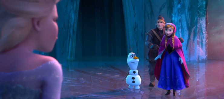 Anna meets Elsa in the ice castle