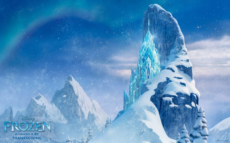 Elsa's ice castle in Frozen