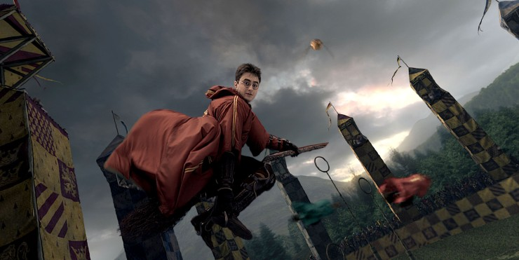 Harry Potter plays Quiddich