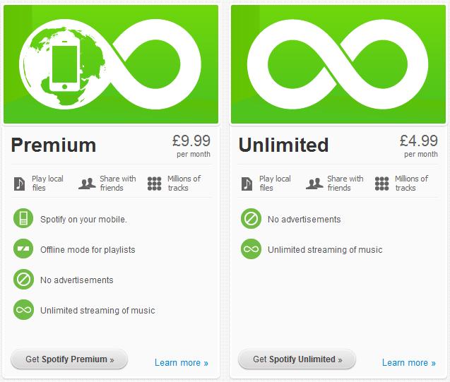 Spotify Premium - not as good as it sounds