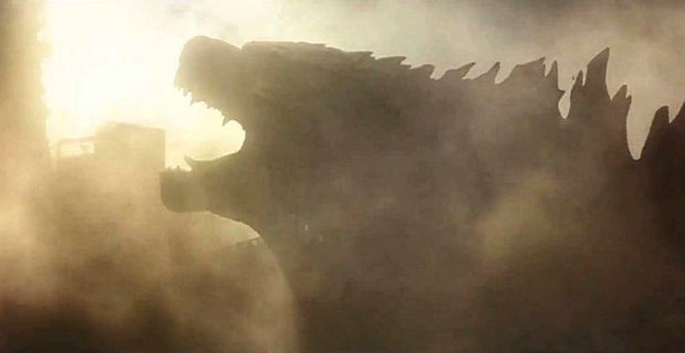 Godzilla roars through smoke