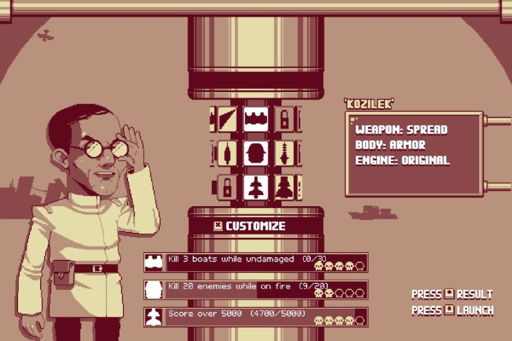 A very Nazi-looking mad scientist in Luftrausers