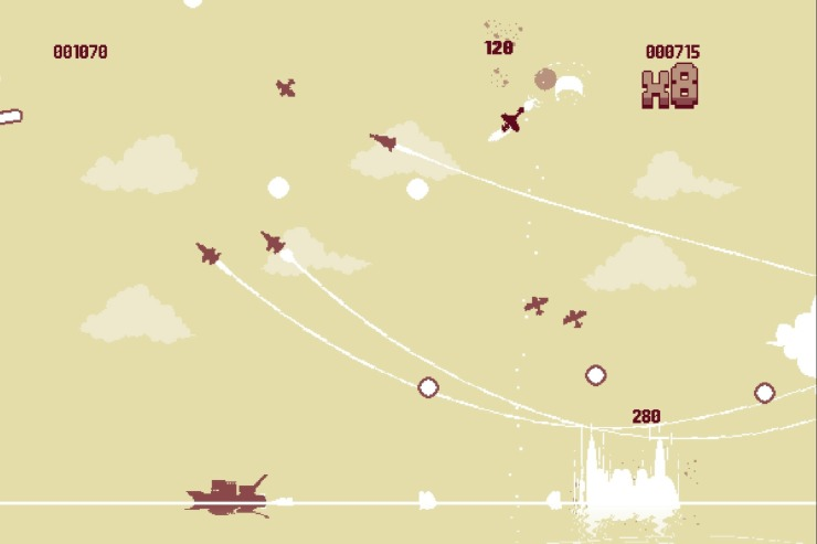 Frantic aerial combat in Luftrausers