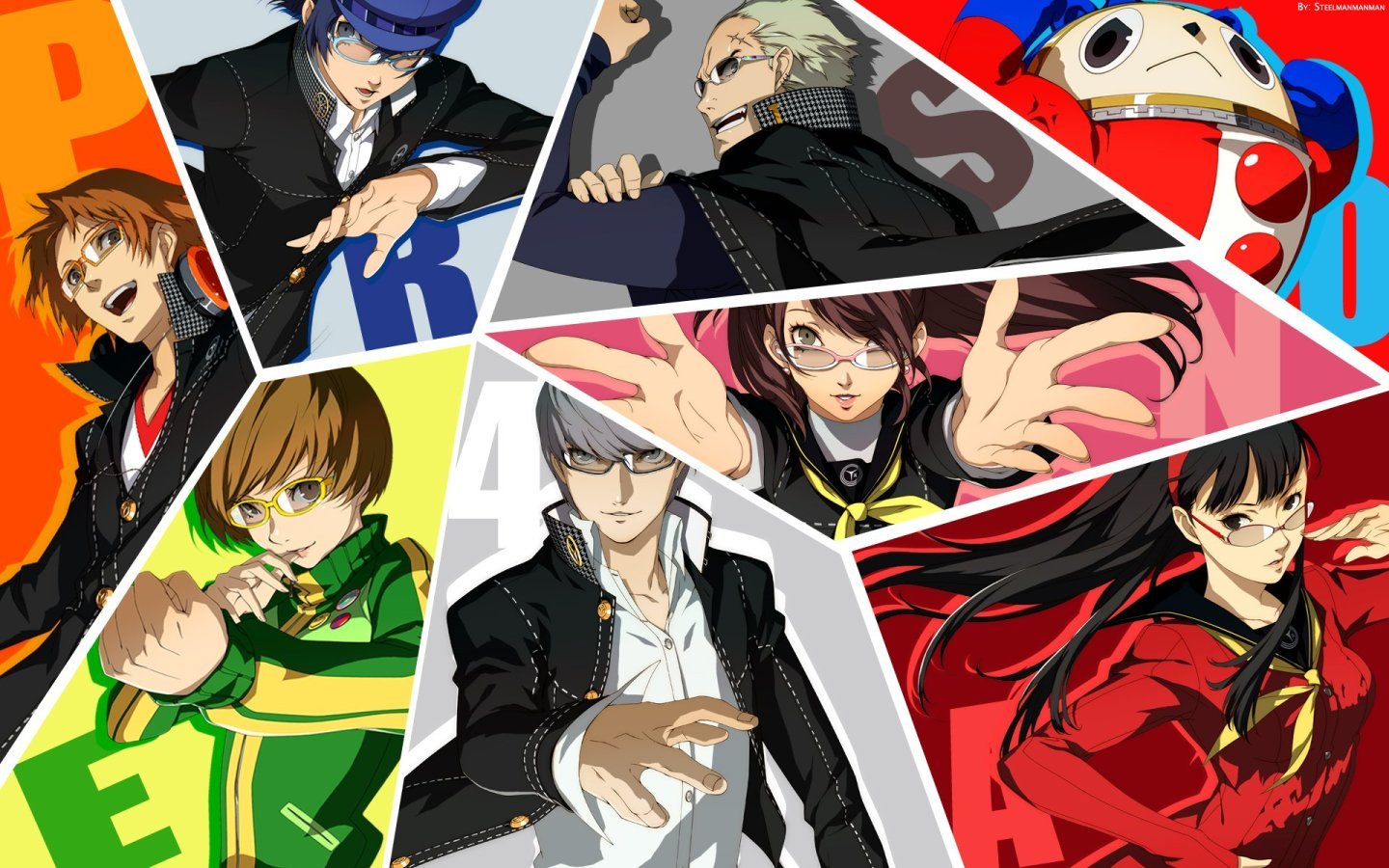 The investigation team of Persona 4 Golden