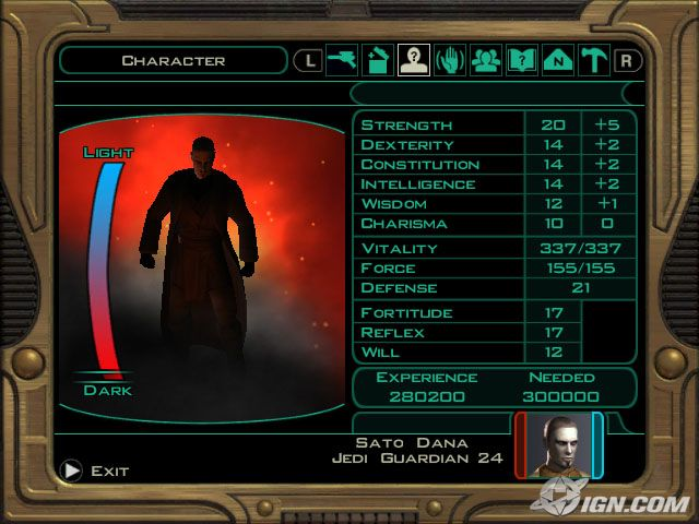 An evil character created by a player in Star Wars: Knights of the Old Republic