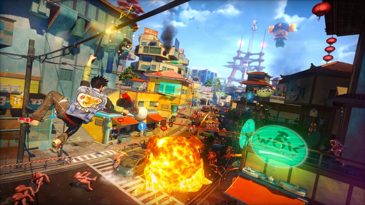 Sunset Overdrive: colour in motion