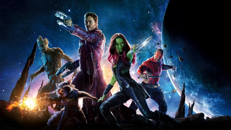 Guardians of the Galaxy's gorgeous ensemble poster
