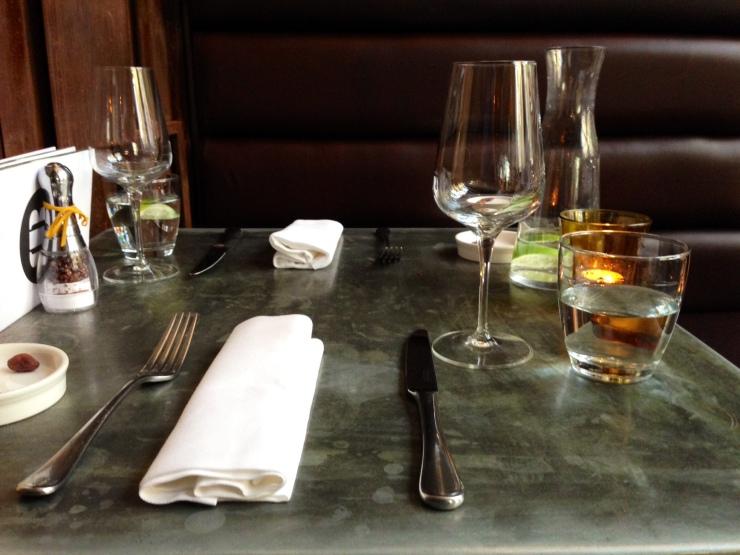Table setting at Rabot 1745