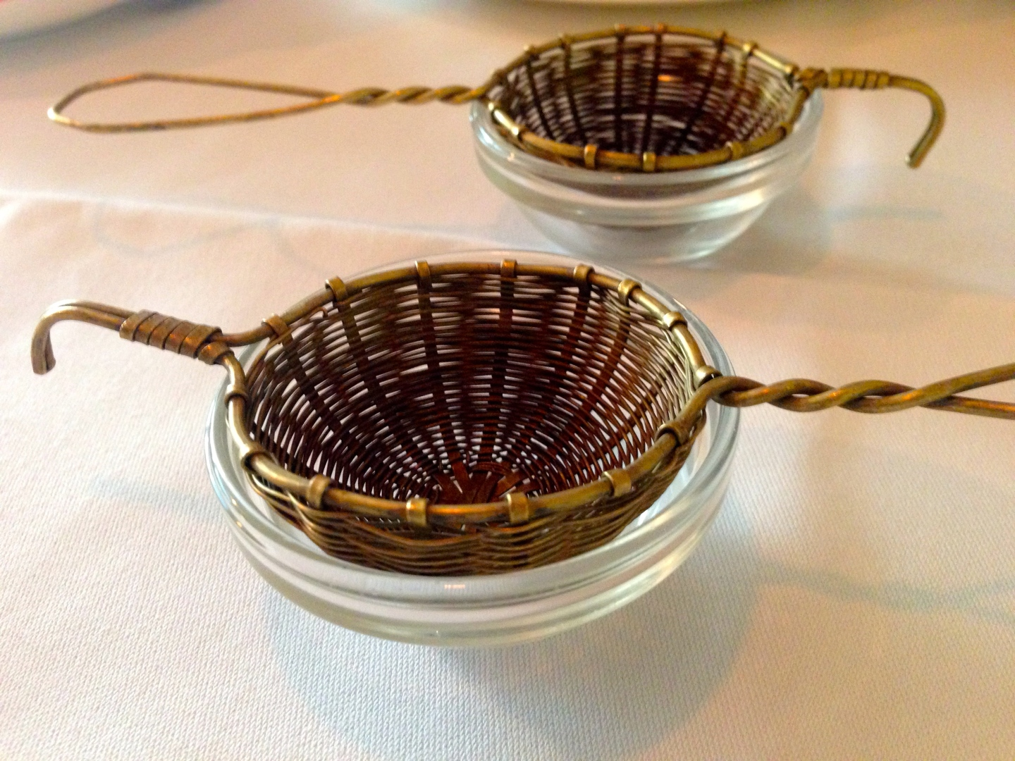 Tea strainers at Asia de Cuba