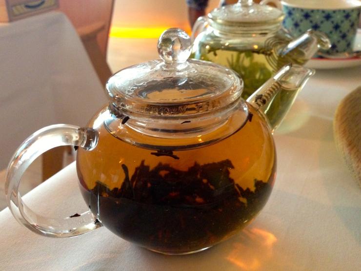 Brewing tea at Asia de Cuba