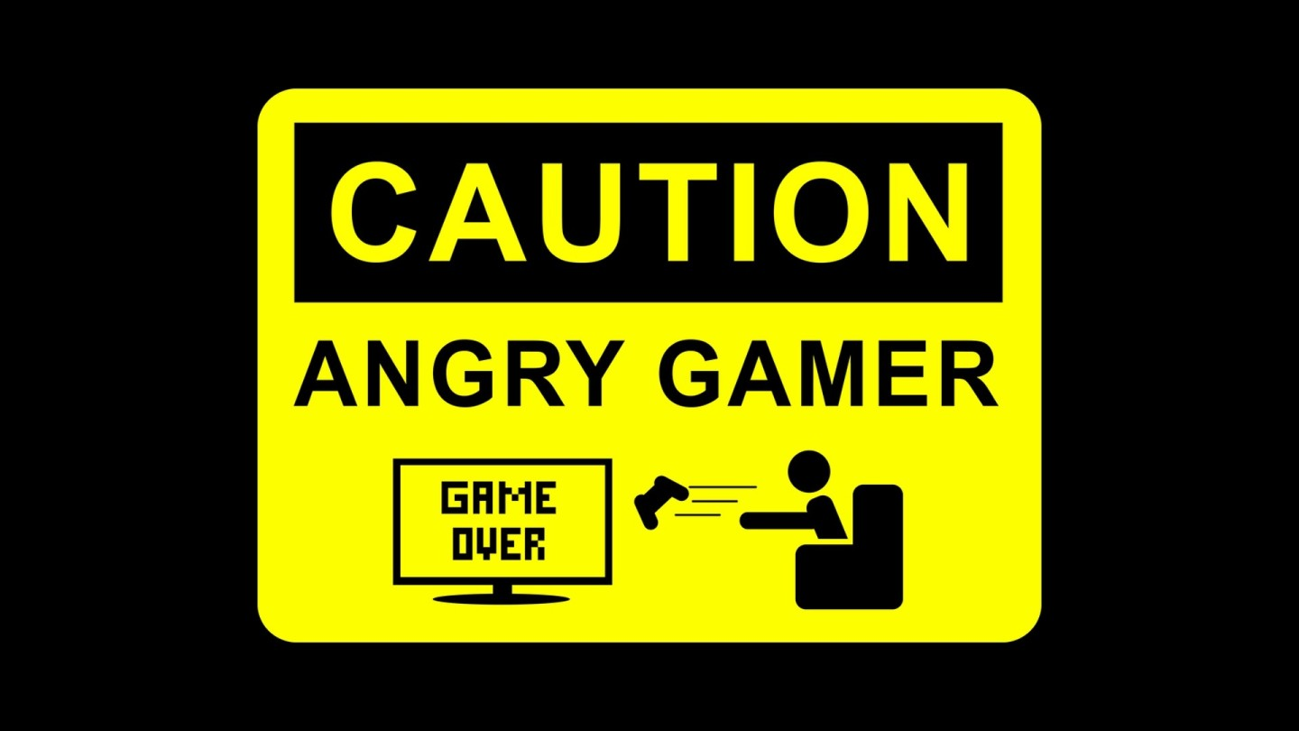 Caution - Angry Gamer