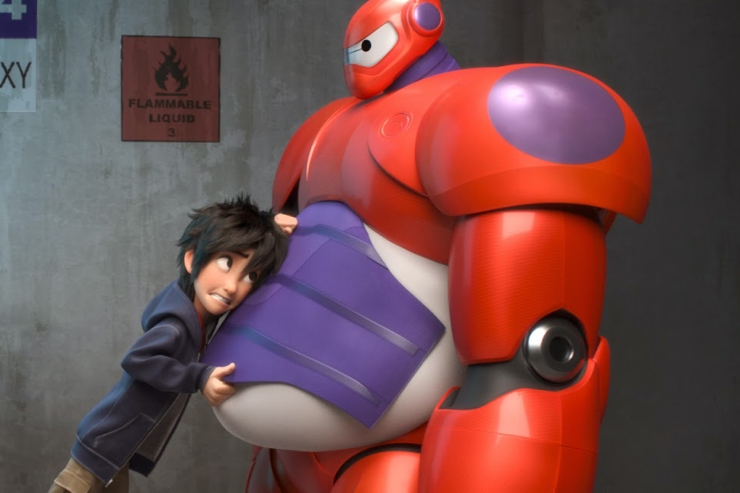 Hiro makes Baymax combat-ready