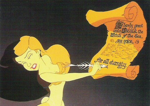 The Little Mermaid: Ariel signs Ursula's contract