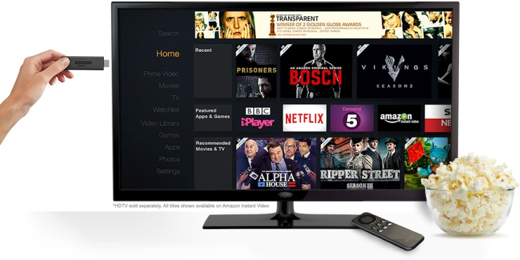 Fire TV Stick's on-screen menu