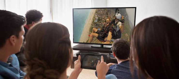 "Chromecast allows users to ""cast"" media from a mobile device to the TV"