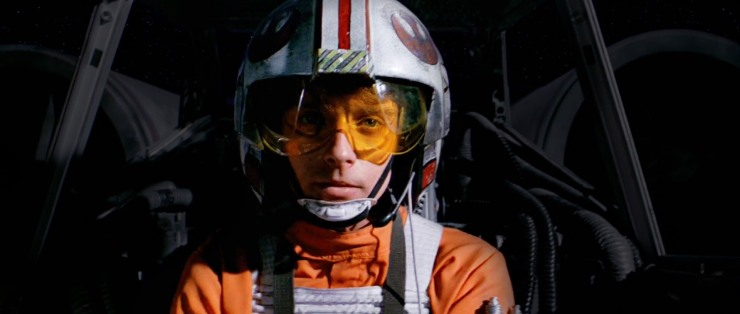 Star Wars: A New Hope's Luke fires his proton torpedoes at the Death Star